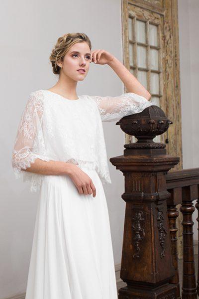 Vestido de novia de 2 piezas