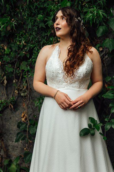 Vestido de novia playero
