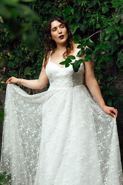 Vestido de novia con brillos