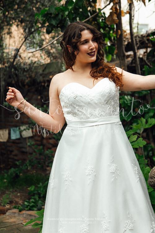 vestido de novia strapless
