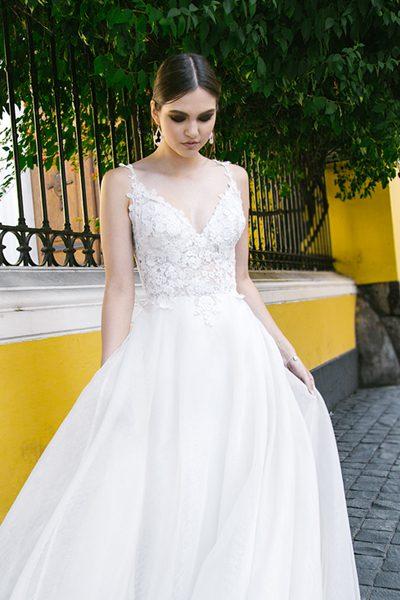 Vestido de novia transparente