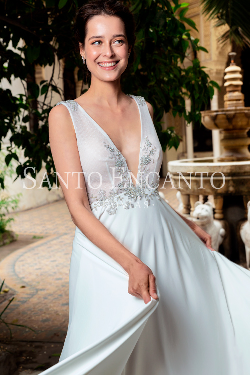 vestido de novia silver